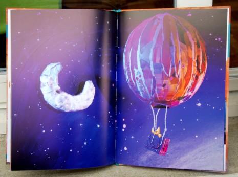 petite étoile dans une montgolfière