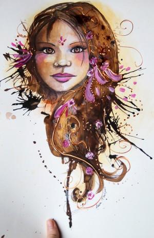 illustrations et peintures d'un portrait de jeune fille 2