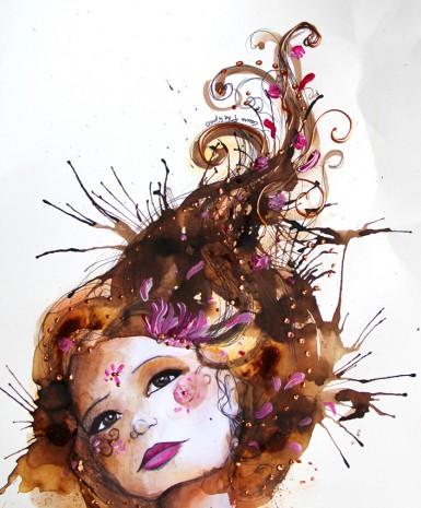 illustrations et peintures d'un portrait de jeune fille