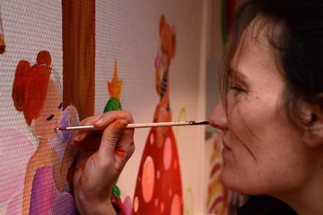 moi en train de peindre