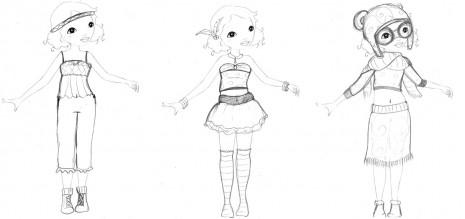 croquis mannequin princesse