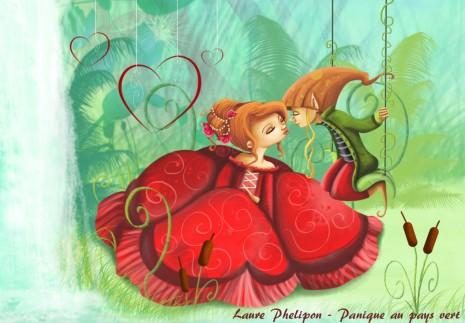 illustration princesse et lutin amoureux