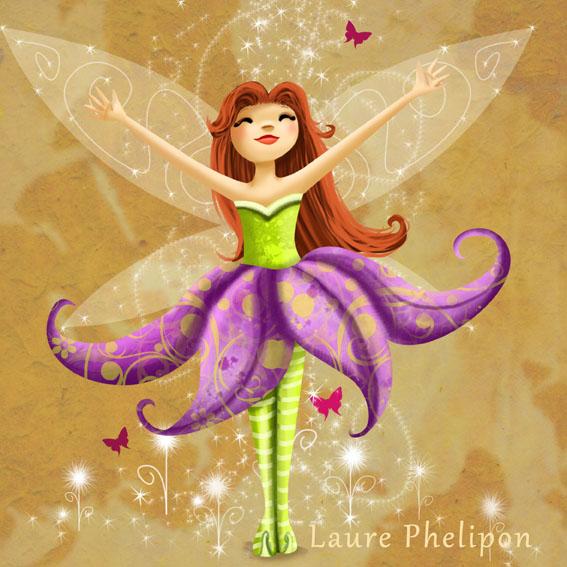 Faire-part original, illustrations personnalisées, fée et jolis livres