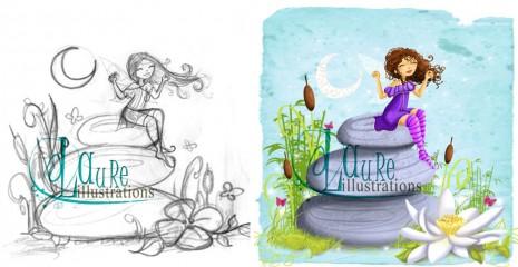 illustration et croquis pour un cabinet de sophrologie-version bleu
