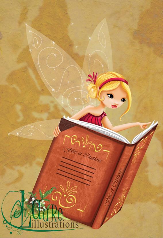 Mes illustrations dans le coffret des fées