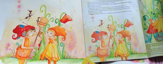 Mes illustrations aquarelles de fées et sorcières dans le charlotte aux fraises